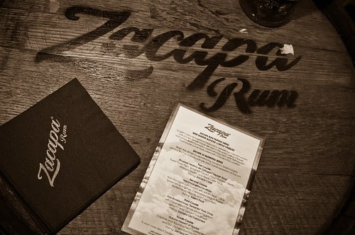 Naha's Zacapa Rum Tasting Dinner