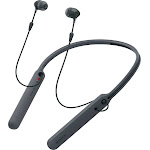 Sony - C400 Wireless Behind-the-Neck In Ear Headphones - Black