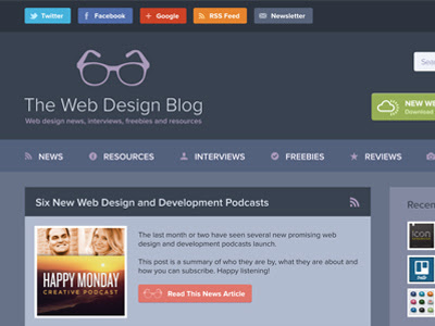 Dribbble - The Web Design Blog 2013 (Coming Soon) by Phil Matthews
