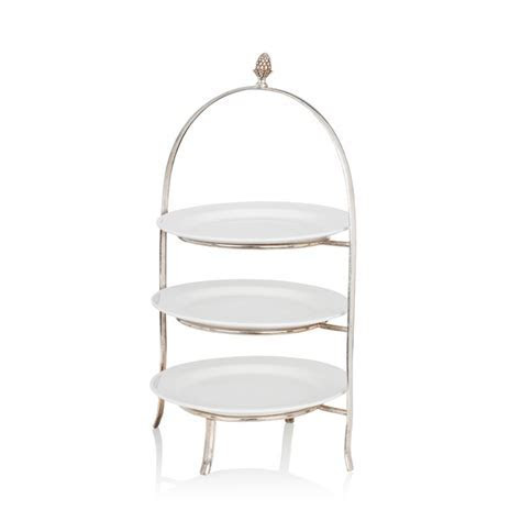 Afternoon Tea Stand (with 3 white plates)