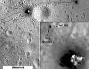 Le immagini riprese da Lunar Reconnaissance Orbiter del sito di Apollo 16 (Afp)