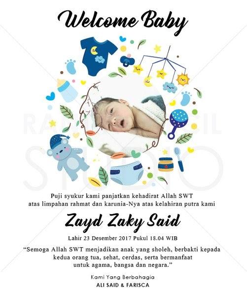 Kumpulan Download Desain Kartu Ucapan Kelahiran Bayi Psd ...