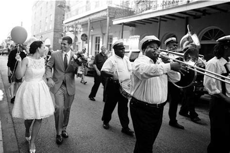 Southern weddings   second line with marching band