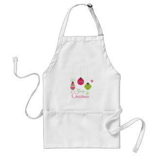 Trendy hanging ornaments merry Christmas apron apron