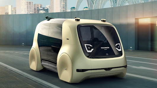 This self-driving van concept from Volkswagen looks like a pissed-off toaster
