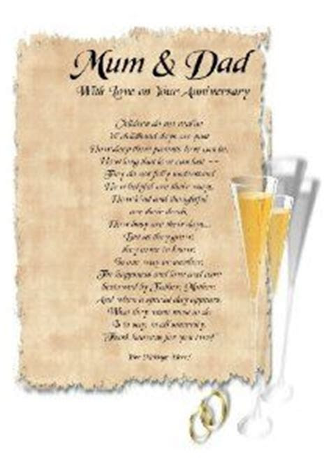 Parents 60th Wedding Anniversary Poems Gifts