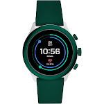 Fossil Sport Smartwatch - 43mm Dark Green Silicone, Adult Unisex