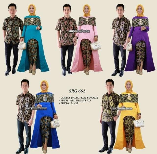 HEMAT Baju Batik Batik Couple Batik Sarimbit - SRG 662 660fea26d7