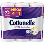 Cottonelle Ultra Comfort Care Toilet Paper, Mega Rolls, 2-Ply - 18 rolls