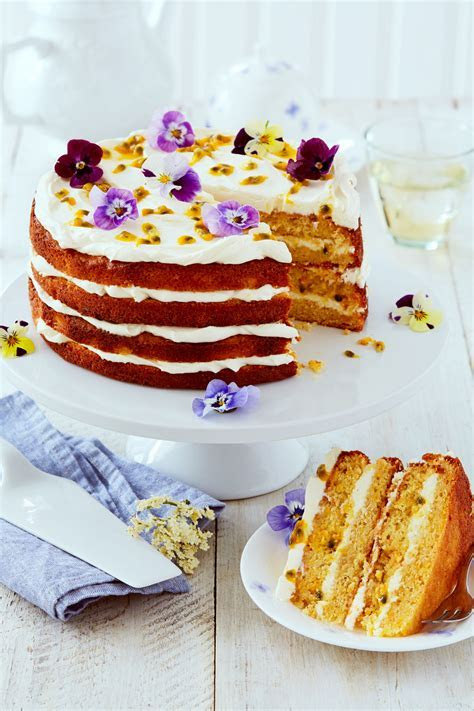 Elderflower, Orange & Passion Fruit Layer Cake Recipe