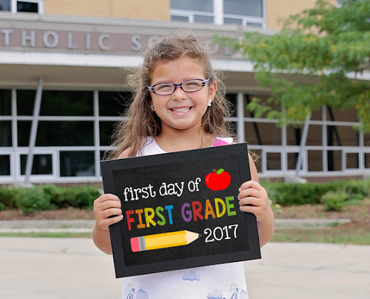 First Grade Sign, First day of school sign printable, School Printable Sign, First day of 1st Grade, First Grade