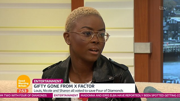 'I feel like they'd already made up their mind': Gifty Louise weighed in on the X Factor fix row on GMB on Monday after bumbling Simon Cowell accidentally opts to send his own act home