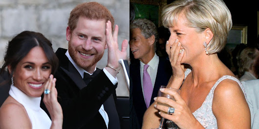 Meghan Markle Wore A Ring Belonging to Prince Harry's Mother Princess Diana to the Royal Wedding Evening Reception