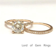 2 Ring Set! 7mm Round Moissanite Diamond Wedding Bridal