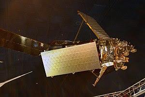English: Iridium satellite, constructed entire...