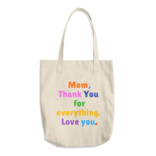 Mother's Day Reusable Grocery Tote Cotton Market Tote Bag