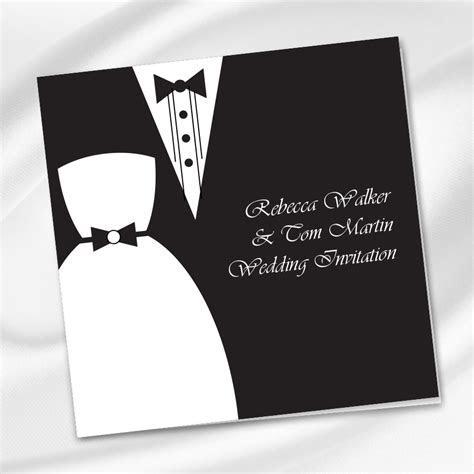 Black Tie Wedding Invitation Ireland   WeddingPrint.ie