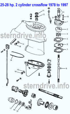 Evinrude Johnson Outboard Parts Drawings
