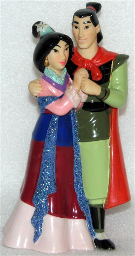 Disney Cake Topper   Porcelain Figure   Mulan and Shang