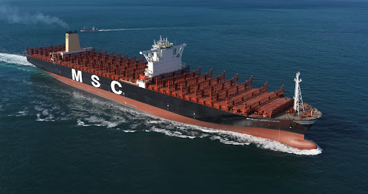 World's Largest Container Ship MSC Oscar With 19224 TEU Capacity Christened