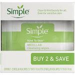 Simple Micellar Wipes - 25ct/2pk