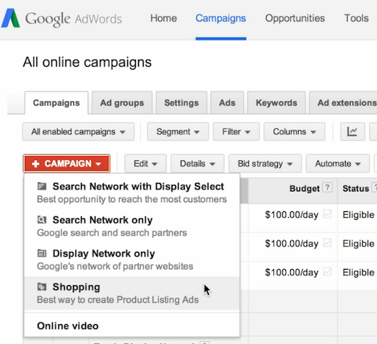 AdWords API For New Google Shopping Campaigns Now Available