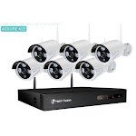 HMB41MQ Security Camera System NVR Kit 8CH 1080P CCTV Wireless 4/6PCS Outdoor P2P Set 24/7 Video Surveillance Cam Set