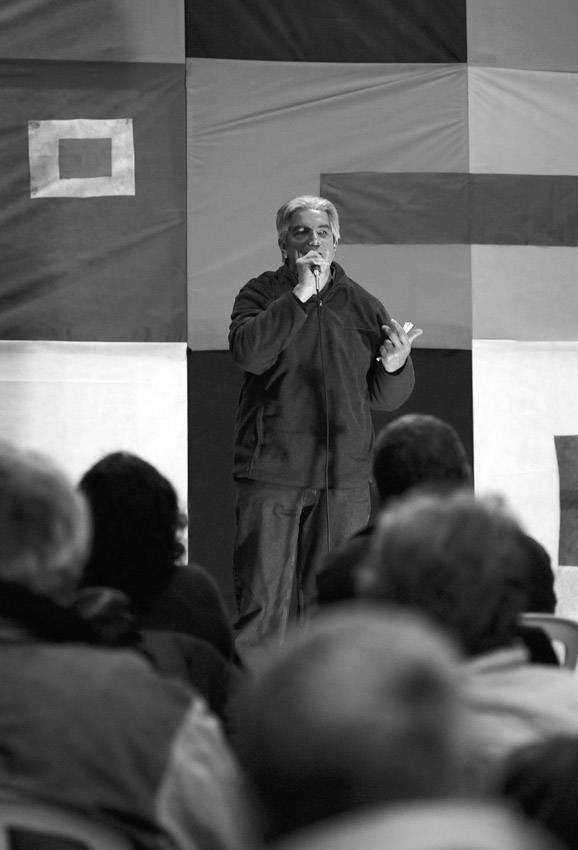 Luis Puig, ayer, durante el acto aniversario del Partido por la Victoria del Pueblo (PVP).