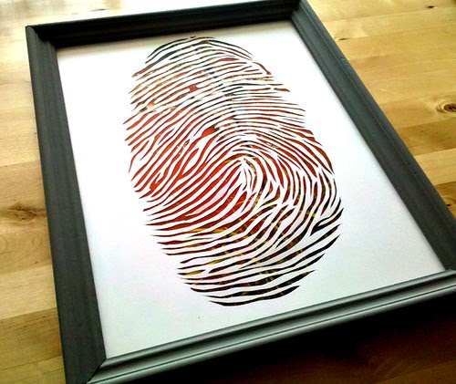 Thumbprint paper cutting