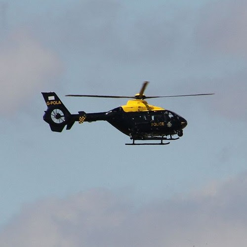 Police Helicopter Circling Overhead 26th July 2017 2204 by BinauralDiaries Field Recording