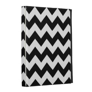 Black and White Zigzag iPad Folio Cases