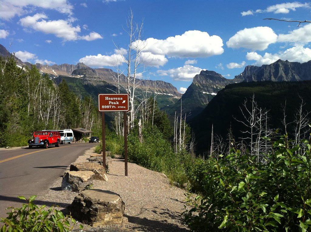 Coming down, headed west on Going to the Sun Road