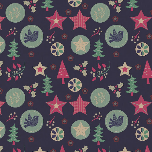 "Fhiona Galloway on Twitter: ""christmas design #christmas #patterndesign #christmastree #stars #bird #illustration """