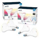WiZ WiFi Smart Bulb BR30 Color 4-pack