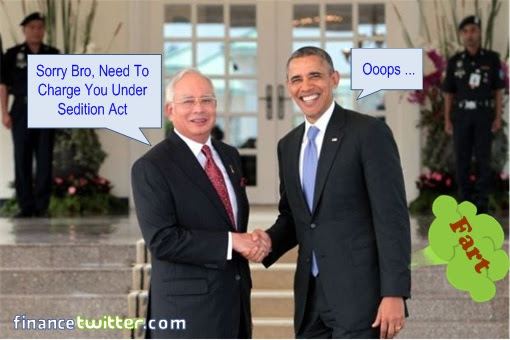 President Obama Fart - Charge Under Sedition Act
