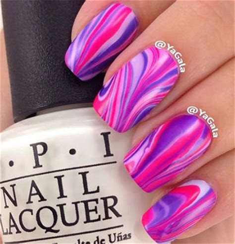 15 Without Water Marble Nails Art Designs & Ideas 2017