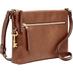 Fossil Fiona Small Gold Hardware Crossbody Bag, Womens, Brown