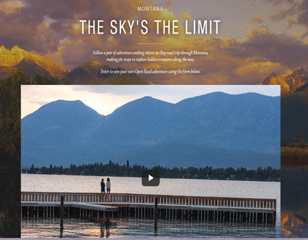 The Sky's the Limit Open Road Sweepstakes from Montana - American Sweepstakes