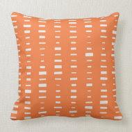 Orange Block Stripe Pillow throwpillow