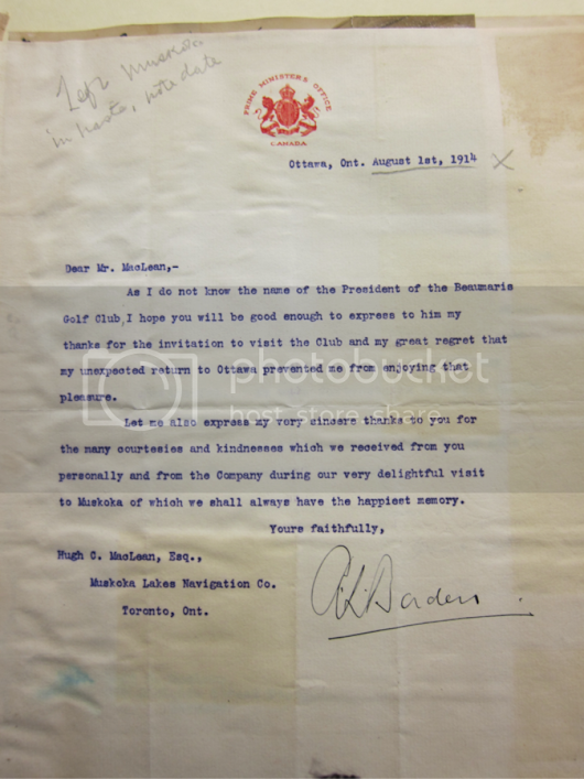 A Note from the Prime Minister on the Eve of War