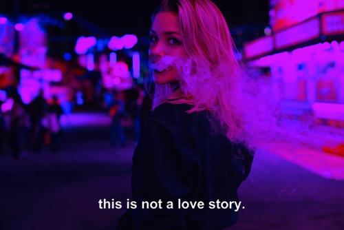 Love Girl Text Smoke Indie Grunge Dark Blue Pink Text Post Artsy