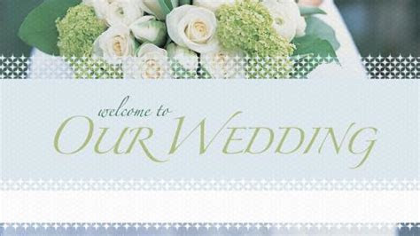 Church PowerPoint Template: Welcome Wedding