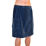 Blue Wave Products SA5327 Navy Blue Spa - Sauna Wrap - Women, Size: 54 W x 29.5 Large