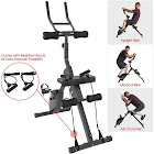 Xspec 3-in-1 Exercise Bike with AB Cruncher, Upright and Elliptical Bike Feature