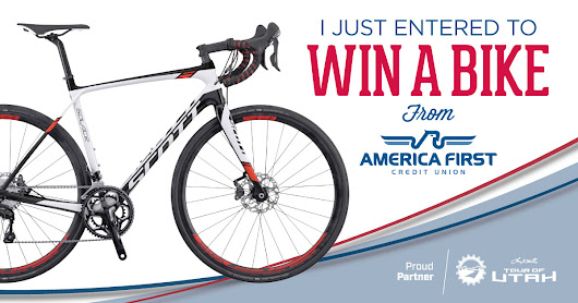 Enter to win a bike from America First Credit Union!
