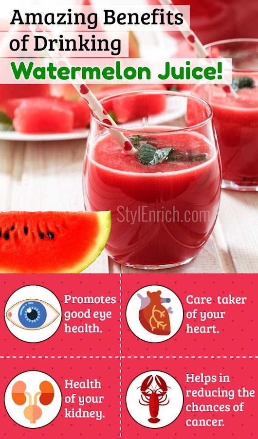 Watermelon Juice Benefits for Skin and Health That You Never Knew!