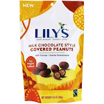 Lily's Stevia Sweetened 35 Cacao Milk Chocolate Style Covered Peanuts 3.5 oz.