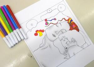 4 Fogli Di Lavoro Su Gustav Klimt Prima Serie
