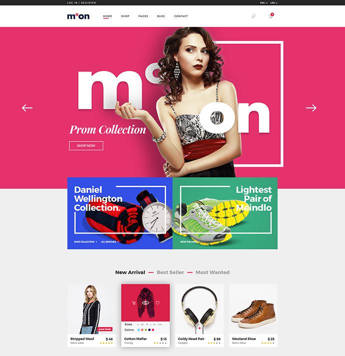 Luna - plantilla PSD de comercio electrónico