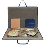 Lavievert Oxford Cloth Jigsaw Puzzle Case Puzzle Storage For Up To 1500 Pieces - Blue
